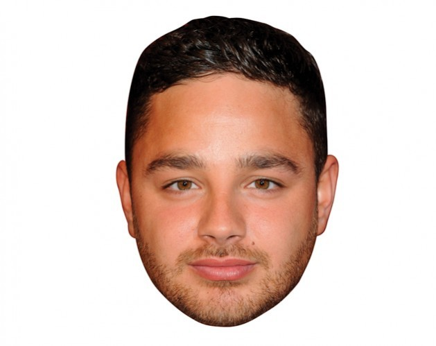 A Cardboard Celebrity Masks of Adam Thomas