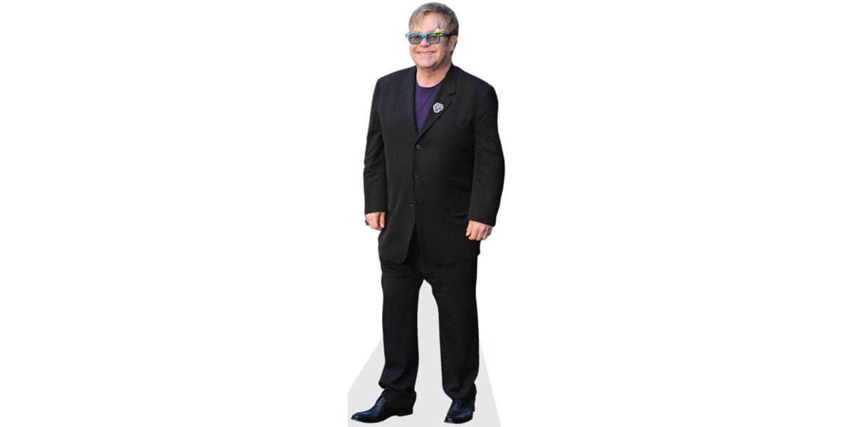 Cardboard Cutout lifesize Standee. Elton John Pink